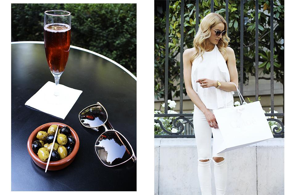 Having Drinks on Champs-Élysées - Collage 1